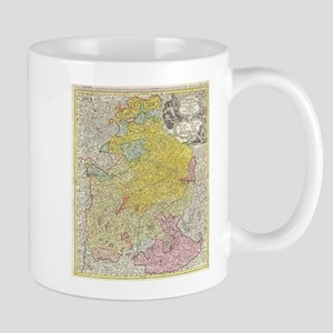 Vintage Map of Bavaria Germany (1728) Mugs